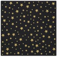 Servietten 33x33 cm - Starlets black