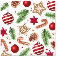 Servietten 33x33 cm - Sweet Holidays