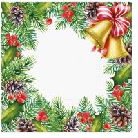 Servietten 33x33 cm - Glory Christmas Frame