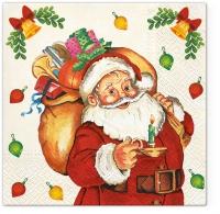 Servietten 33x33 cm - Santa Claus with Gifts