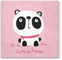 Lunch Servietten Cute Panda pink