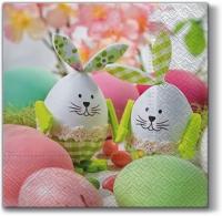 Servietten 33x33 cm - Eier mit Zeichnungen