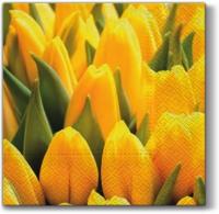 Servietten 33x33 cm - Gelbe Tulpen