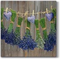 Lunch Servietten Lavender with Hearts