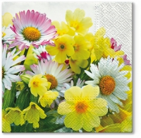 Servietten 33x33 cm - Yellow Bouquet