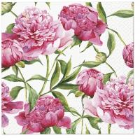 Servietten 33x33 cm - Pink Peonies