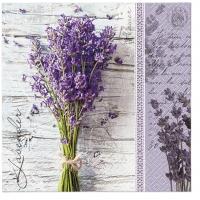 Servietten 33x33 cm - Lavender Bouquet