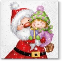 Lunch Servietten Santa with Kid