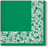 Servietten 33x33 cm - Chic Frame (green)