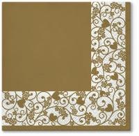 Servietten 33x33 cm - Chic Frame (gold)