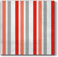 Lunch Servietten Only Stripes (red)