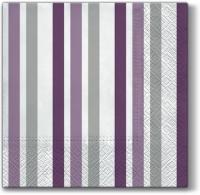 Lunch Servietten Only Stripes (violet)