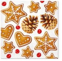 Servietten 33x33 cm - Gingerbreads