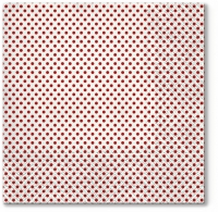 Servietten 33x33 cm - Small Dots (red)