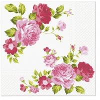 Servietten 33x33 cm - Rosen Zusammensetzung gelb