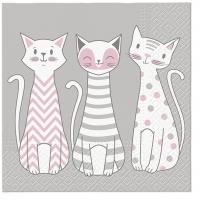 Servietten 33x33 cm - Glam Cats