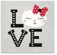 Servietten 33x33 cm - Lovely Cat