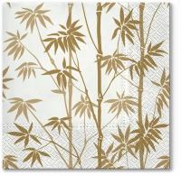 Servietten 33x33 cm - Bamboo Forest gold
