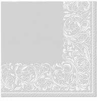 Servietten 33x33 cm - Elegant Tangle silver