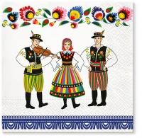 Servietten 33x33 cm - Folk Celebration