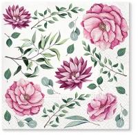 Servietten 33x33 cm - Blooming Dahlia