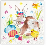 Servietten 33x33 cm - Easter Friends