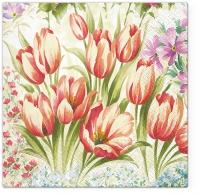 Servietten 33x33 cm - Bright Tulips
