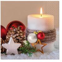 Servietten 33x33 cm - Holiday Candle