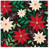 Servietten 33x33 cm - Poinsettia Pattern