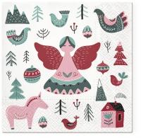 Servietten 33x33 cm - Scandinavian Christmas