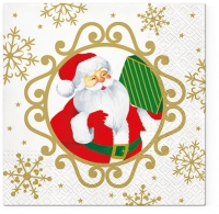 Servietten 33x33 cm - Serwetki Hallo Weihnachtsmann