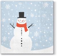 Lunch Servietten Serwetki Happy Snowman