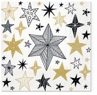 Servietten 33x33 cm - Geometric Stars
