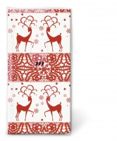 Taschentücher - TT Zwei Hirsche rot