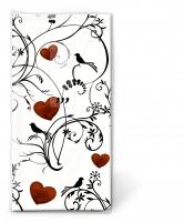 Taschentücher - Ornament mit Herzen