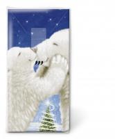 Taschentücher Polar bear kiss