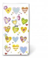 Taschentücher TT Colourful hearts