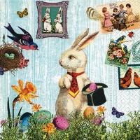 Cocktail Servietten Magic Easter rabbit