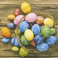 Servietten 25x25 cm - Gefärbte Eier