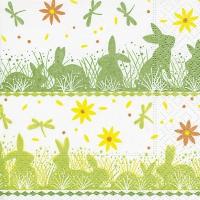 Servietten 25x25 cm - Bunny meadow