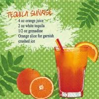 Cocktail Servietten Tequila Sunrise