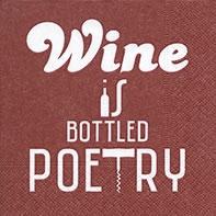 Cocktail Servietten Bottled poetry red