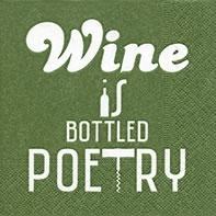 Cocktail Servietten Bottled poetry green