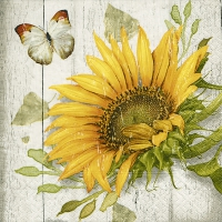 Servietten 25x25 cm - Vintage Sonnenblume