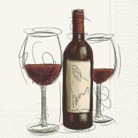 Servietten 25x25 cm - Vino Rosso