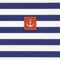 Servietten 25x25 cm - Sailor stripes