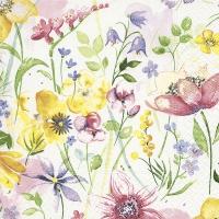 Servietten 25x25 cm - Blumenwiese