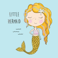 Servietten 25x25 cm - Little mermaid