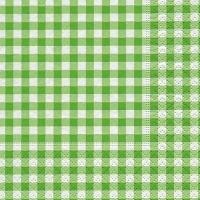 Servietten 25x25 cm - Neu Vichy grün