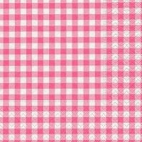 Servietten 25x25 cm - Neu Vichy rosé rosé